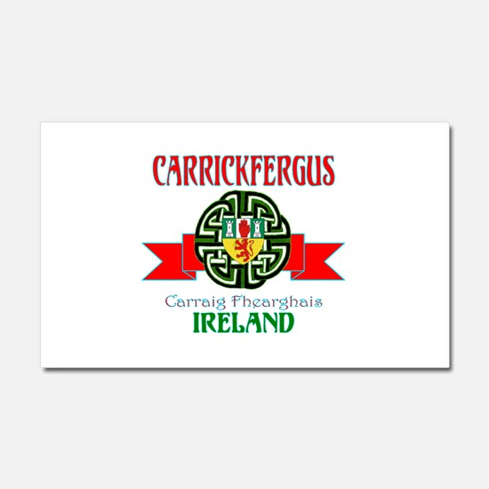 Carrickfergus Coat of Arms NEW.png Car Magnet 20 x