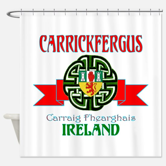Carrickfergus Coat of Arms NEW.png Shower Curtain