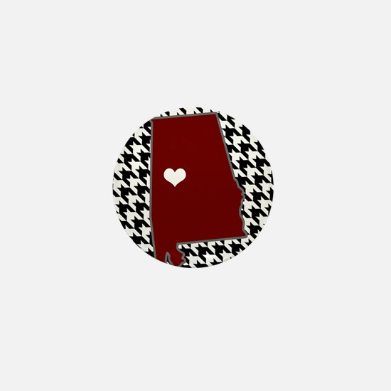 Heart of Alabama Mini Button