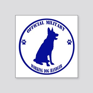 Blue Official Military Working Dog Handler Sticker
