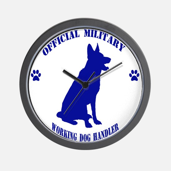 Blue Official Military Working Dog Handler Wall Cl