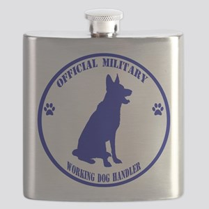 Blue Official Military Working Dog Handler Flask