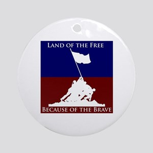 Land Of The Free Because Of The Brave Soldiers Orn