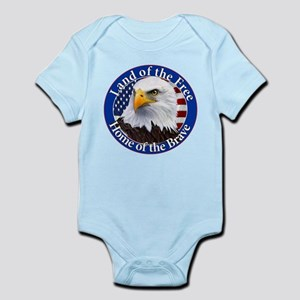 Land Of The Free Home Of The Brave Eagle Body Suit