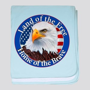 Land Of The Free Home Of The Brave Eagle baby blan