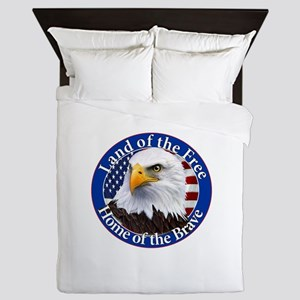 Land Of The Free Home Of The Brave Eagle Queen Duv