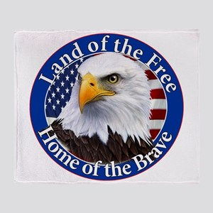 Land Of The Free Home Of The Brave Eagle Throw Bla