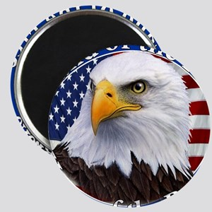 Land Of The Free Home Of The Brave Eagle Magnet