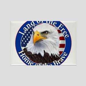 Land Of The Free Home Of The Brave Eagle Rectangle