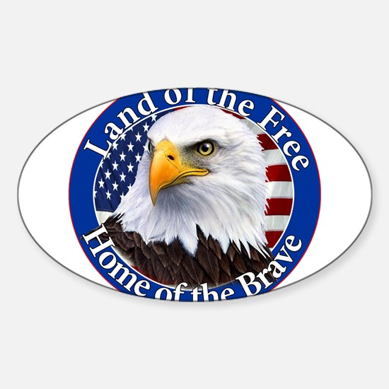 Land Of The Free Home Of The Brave Eagle Decal