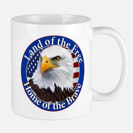 Land Of The Free Home Of The Brave Eagle Mug