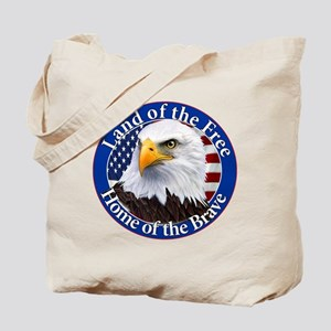 Land Of The Free Home Of The Brave Eagle Tote Bag