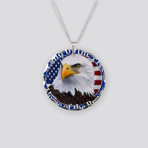 Land Of The Free Home Of The Brave Eagle Necklace