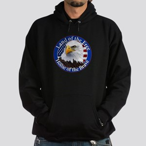 Land Of The Free Home Of The Brave Eagle Hoodie