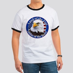 Land Of The Free Home Of The Brave Eagle T-Shirt