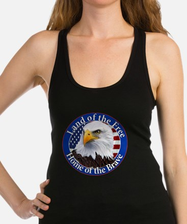 Land Of The Free Home Of The Brave Eagle Racerback