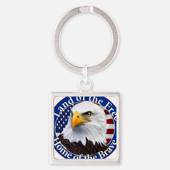 Land Of The Free Home Of The Brave Eagle Keychains