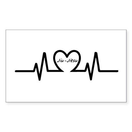 Jiu Jitsu Heartbeat Decal By Bjjlove