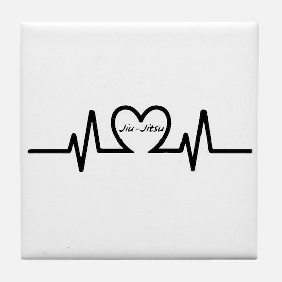 Jiu-Jitsu Heartbeat Tile Coaster