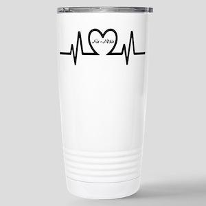 Jiu-Jitsu Heartbeat Travel Mug