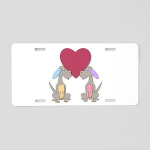 Sweet Heart Pups Aluminum License Plate