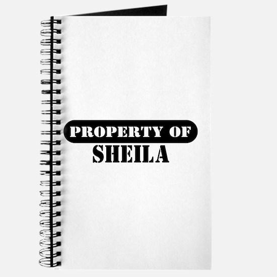 Property of Sheila Journal