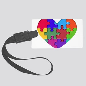 Autism Heart Puzzle Luggage Tag