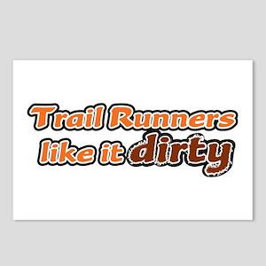 Trail Runners like it Dirty - Orange Dirty Postcar