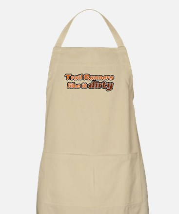 Trail Runners like it Dirty - Orange Dirty Apron