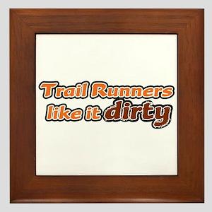Trail Runners like it Dirty - Orange Dirty Framed