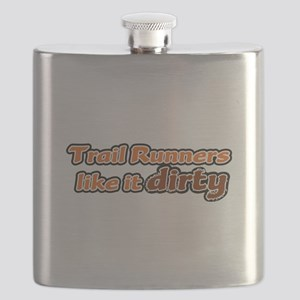 Trail Runners like it Dirty - Orange Dirty Flask