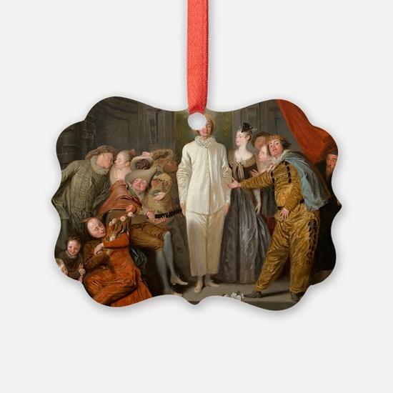 Antoine Watteau - The Italian Comedians Ornament