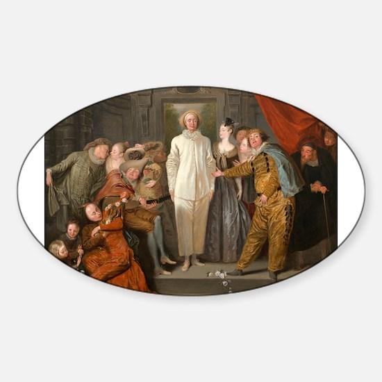 Antoine Watteau - The Italian Comedians Decal