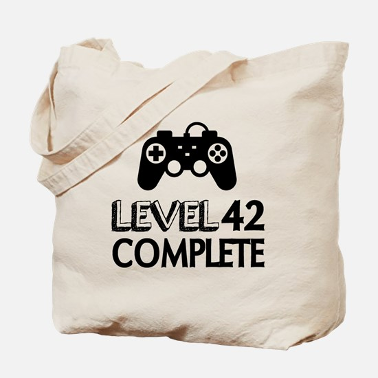 Level 42 Complete Birthday Designs Tote Bag