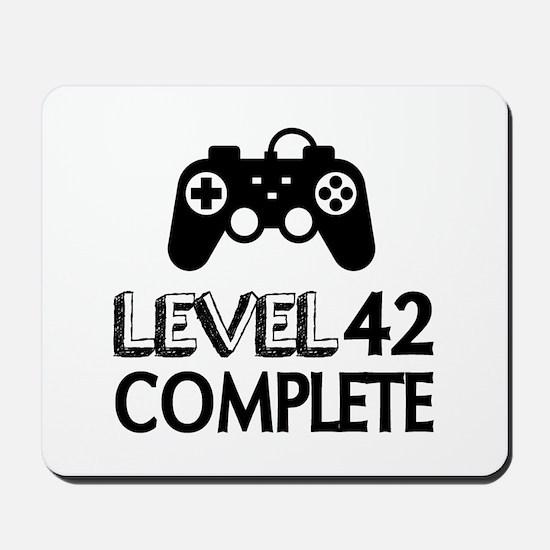 Level 42 Complete Birthday Designs Mousepad