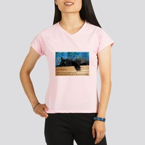 Nibbling Thoughts Black Cat Performance Dry T-Shir