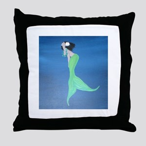 Island Mermaid  Throw Pillow