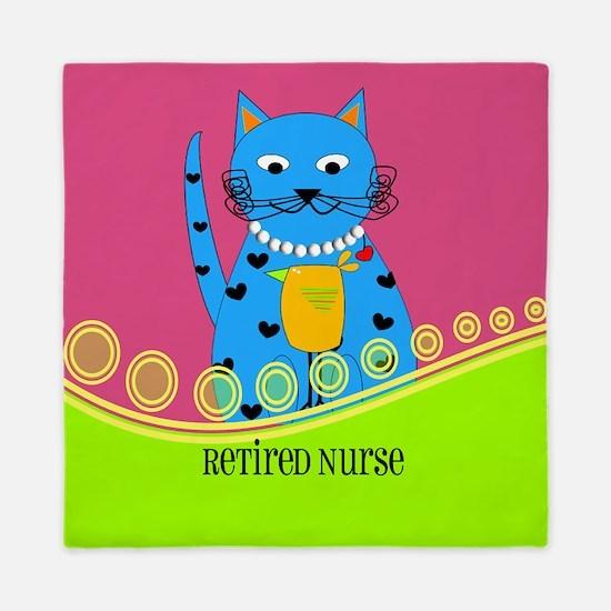 Retired Nurse Cat Queen Duvet