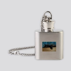 Nibbling Thoughts Black Cat Flask Necklace