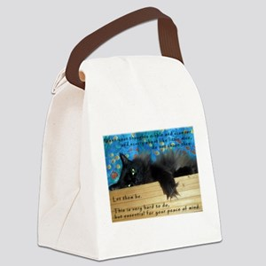 Nibbling Thoughts Black Cat Canvas Lunch Bag
