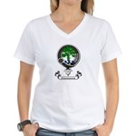 Badge - Kinninmont Women's V-Neck T-Shirt