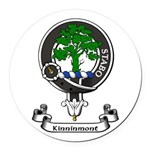 Badge - Kinninmont Round Car Magnet