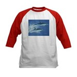Leaping Dolphins Kids Baseball Jersey