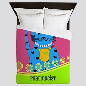pharmacist cat 1 Queen Duvet