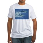 Leaping Dolphins Fitted T-Shirt