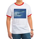 Leaping Dolphins Ringer T