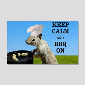 Keep Calm and BBQ On Squirrel Wall Decal