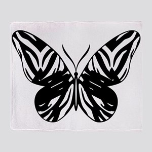 Zebra Butterfly w/hands Throw Blanket