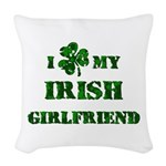 Irish Girlfriend Woven Throw Pillow