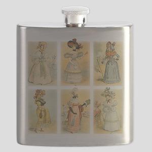 Vintage Paris Fashion (18th and 19th century) Flas